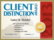 2013 Client Distinction Award